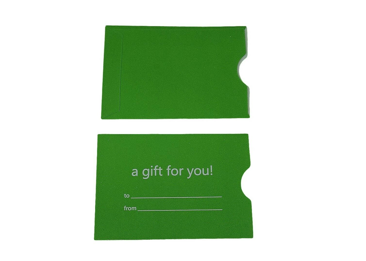 "1000 Green Holiday Gift Card Holder Protector Thumb-Cut 3-1//8/"" x 2-1//4/"""