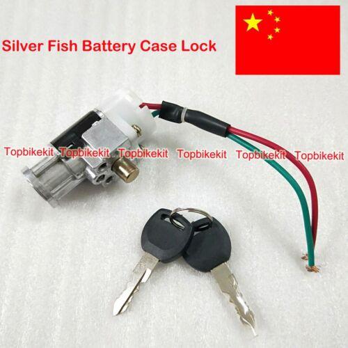 Ebike Parts Lock /& Key Silver Fish Battery case Power Lock /& Key