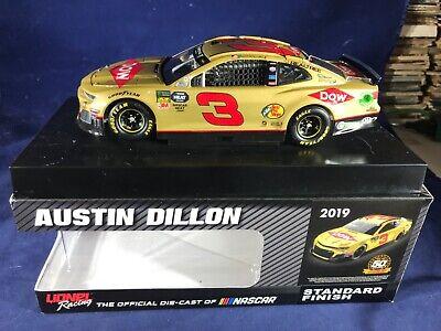 Austin Dillon 2019 Lionel #3 Dow Gold RCR 50th Chevy Camaro ZL1 1//64 FREE