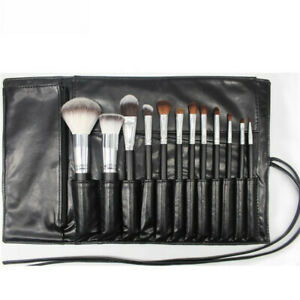 Details About Make Up Leather Cosmetic Brush Makeup Bag Case Holder Roll Good Gift S