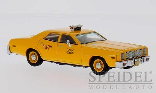 Wonderful modelcar DODGE MONACO TAXI NYC 1977 - giallo  - 1 43 - ltd.edition
