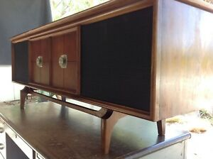 Details about Mid Century Modern RCA Victor Stereo Console Cabinet /  Credenza - Model VHT53W