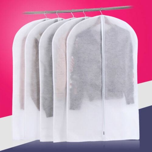 Garment Dust-Proof Bag Protector Dust Cover Non-woven Thickening Portable White