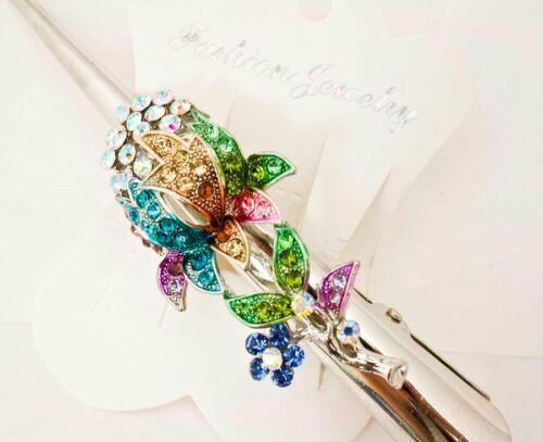 Wholesale 12 pieces elegant rhinestone hair accessory alligator hair clip #5