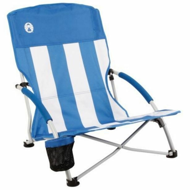 NEW COLEMAN LOW SLING  BEACH CHAIR POLYESTER CAMPING HIKING SEATS PORTABLE LOUNGE  best quality