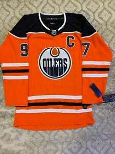 Connor-McDavid-Edmonton-Oilers-Jersey-Men-039-s-M-XXL-Captains-Patch