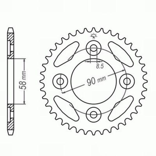 JC33 DID Kettensatz Honda Innova 125 Clipschloss