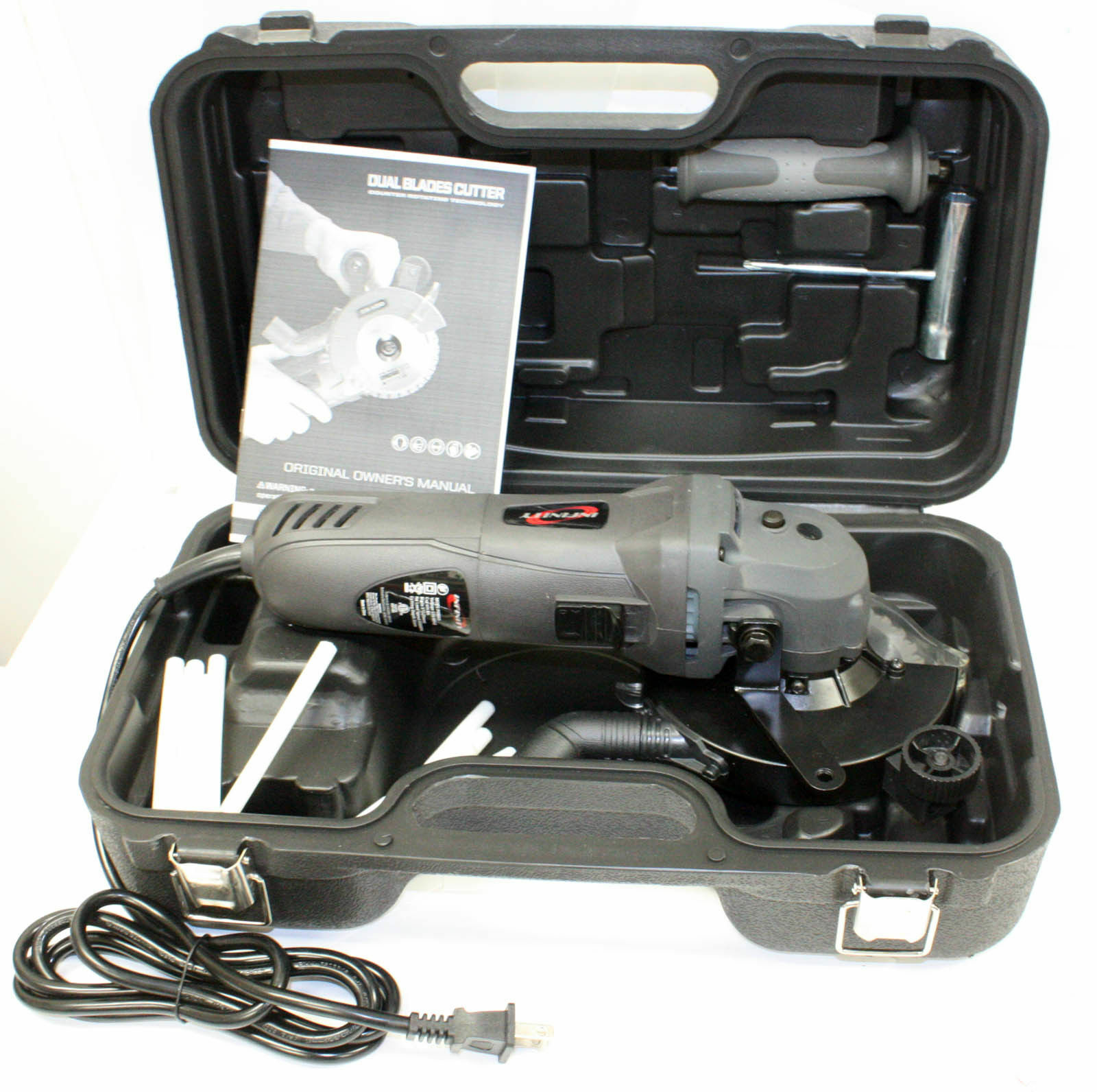 Dual Blades Electric Hand Held Circular Cutter Cut Saw And 5  Double Blades