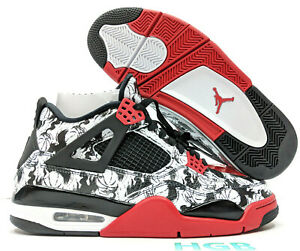 wholesale dealer f6b53 a7f5d Details about Nike Air Jordan Retro 4 Singles Day Tattoo BRED White  Authentic BQ0897-006 NIB