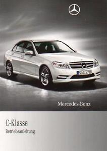 MERCEDES-C-Klasse-Betriebsanleitung-2010-Typ-W-S-204-Handbuch-Bordbuch-BA