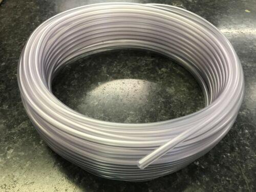 6X4MM PVC Manguera Flexible 30M Rollo Tubo Rollo De Claro Hecho en Reino Unido