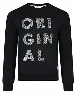 Original-Penguin-Crew-Neck-3-D-Raised-Sweatshirt-True-Black-Casual-Sweat-Top