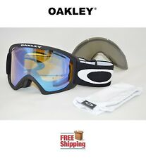 OAKLEY® GOGGLES O2™ XL 02 SNOW BOARD SKI MATTE BLACK W/ HI YELLOW + BONUS LENS