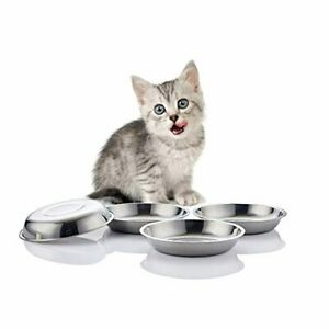 VENTION Stainless Steel Whisker Relief Cat Food Bowl,15 Oz Feeding Dishes,4 Set