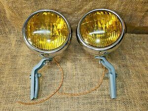 Vintage Original BLC Guide 856 J Accessory FOG LIGHTS Lamps GM Chevy Buick Ford