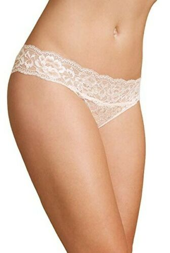 2 Pack Brazilian Knickers briefs lace Pink Peach With added stretch M/&S
