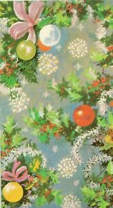 Details about Happy Christmas Vintage 1970\u0027s Greeting Card ~ Merry Baubles  and Holly Xmas