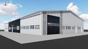 DELTACON Stahlhalle Büro Werkstatt Produktion 15 x 35 x LH 5/ FH 6,5 m isoliert