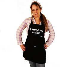 Grimm 3 Second Rule Black Adjustable Apron Front Pocket White Graffiti Text NWT