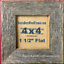 """4x4/"""" F unfinished rustic barn wood distressed recycled barnwood picture frame"""
