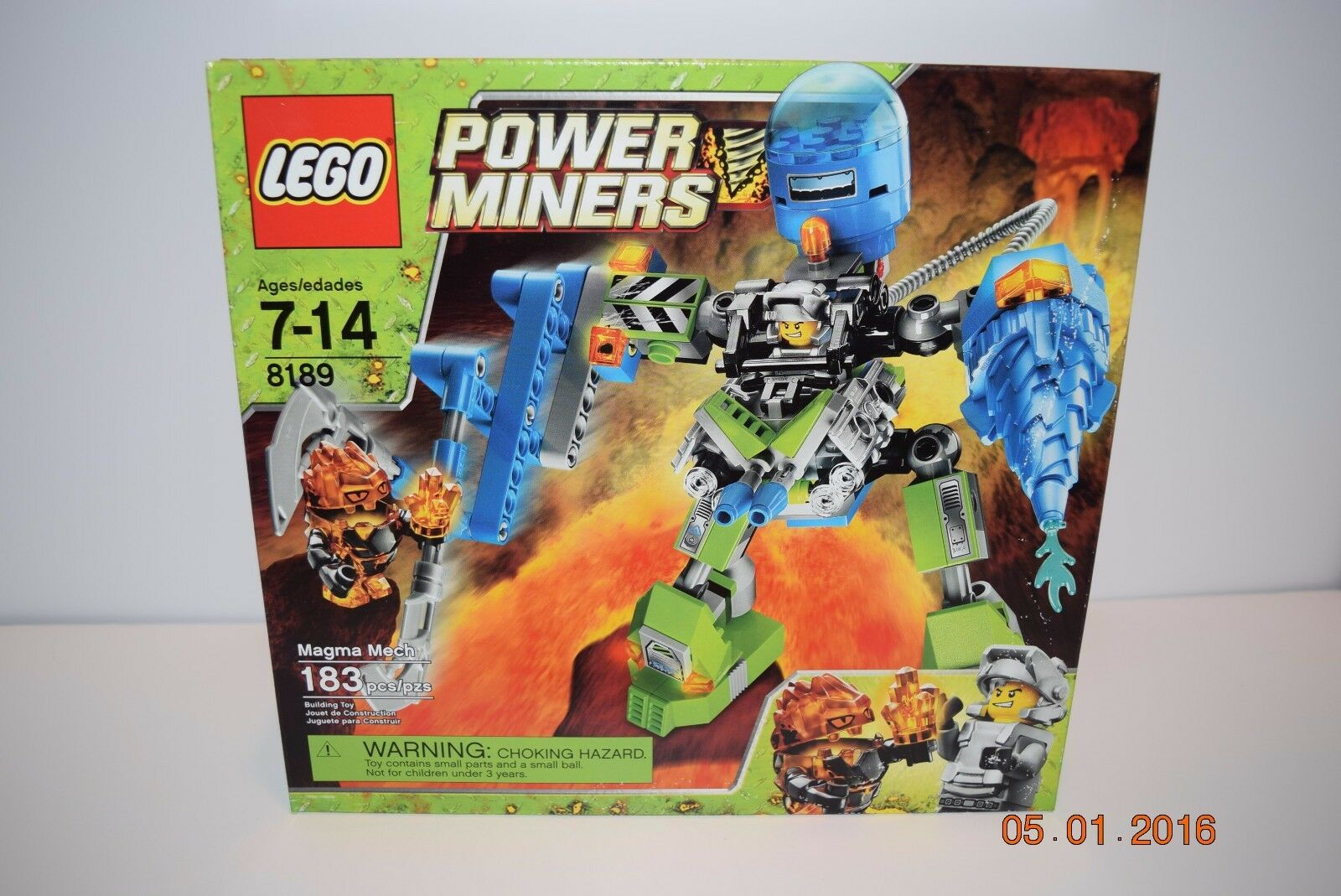 Lego Power Miners 8189 Magma Mech7+, 8188,8960,8962   RetiROT    NEW