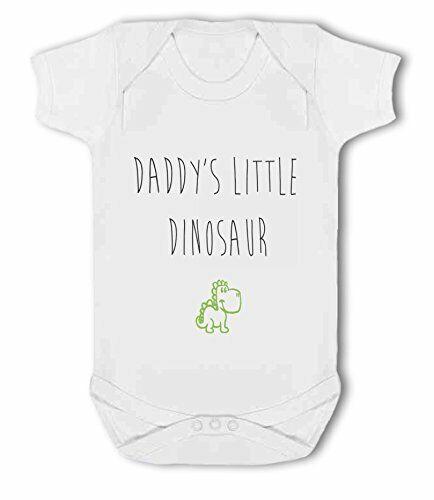 Baby Vest by BWW Print Ltd Daddys Little Dinosaur green