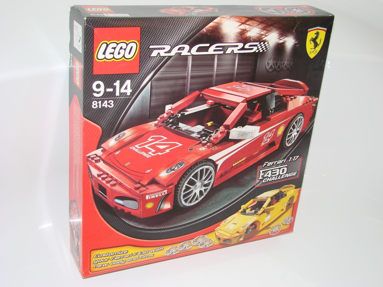 LEGO ® Racers 8143 FERRARI 1:17 f430 CHALLENGE NUOVO OVP NEW MISB NRFB