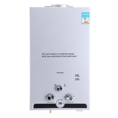 10L 18L Flüssiggas Gas LPG Durchlauferhitzer Warmwasserbereiter Wasserspeicher
