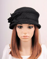 406917f1bd6 item 3 M292 Black Cute Bow Flower   Lace Wool Winter Hat Cap Bucket Cloche  Women s -M292 Black Cute Bow Flower   Lace Wool Winter Hat Cap Bucket  Cloche ...