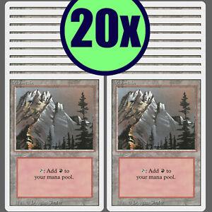 20x MOUNTAIN Revised Same Art Basic Land NM/LP MTG Magic the Gathering