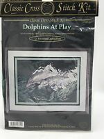 Cross Stitch Kit Dolphins At Play Classic Cross My Heart Classic Sealed 1994