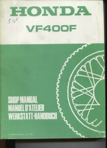 N°8 / Honda Vf400 F Manuel D'atelier / Shop Manual ....1983 647dpfbs-07235912-501815390