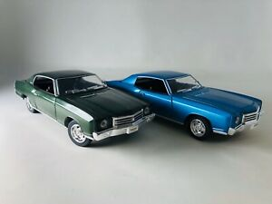 1:24 1970 Chevy Monte Carlo SS454 4 Pieces Set by Saico with Display Box