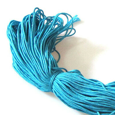 Charm 2mm Lake Blue Nylon Rope Braided Cord Paracord Rope 300FT For DIY Bracelet