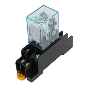 uxcell Iec255 DC 12v Coil 8pin DPDT Electromagnetic Power Relay With on