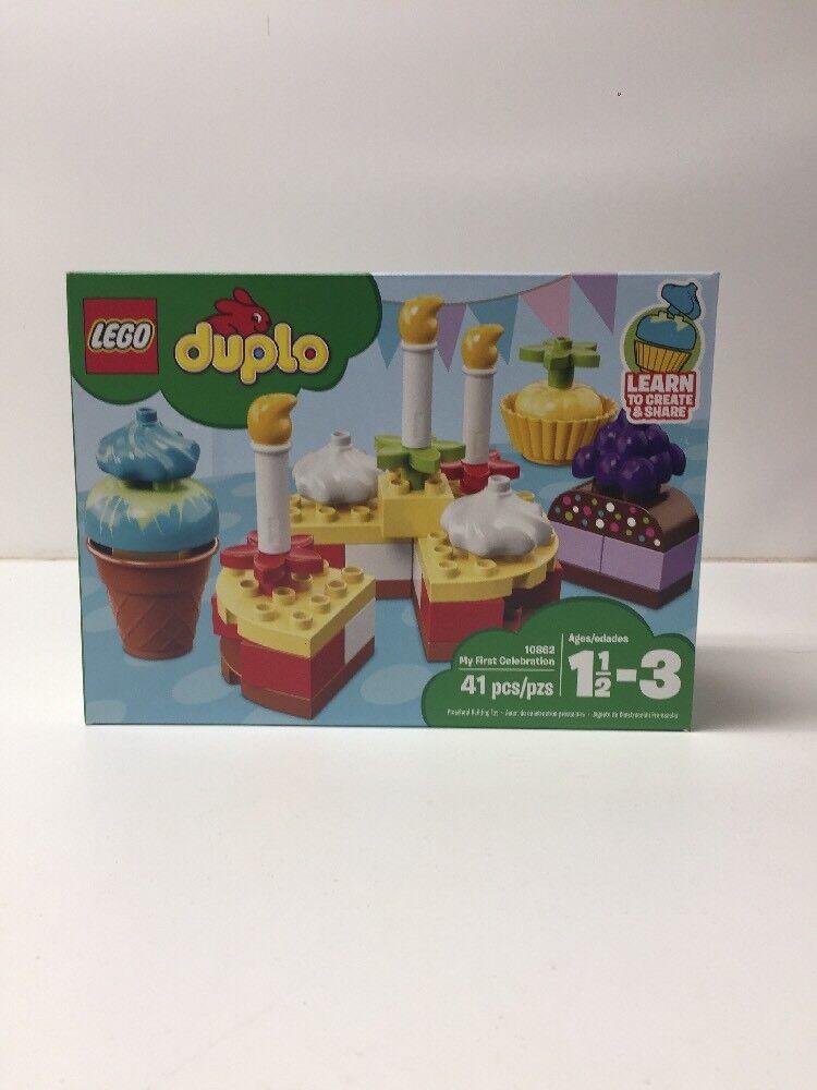 NEW NIB LEGO Duplo 10862 My first celebration NISB Factory Factory Factory Sealed 53ed1f