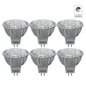 6x-Toshiba-E-Core-Led-Lampe-a-Reflecteur-Spot-MR16-GU5-3-6-5W-Blanc-Neutre-4000K