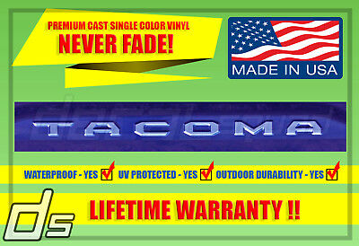 Toyota Tacoma 2016 2017 2018 2019 Tailgate Vinyl Decal Inlay Insert TRD Letters