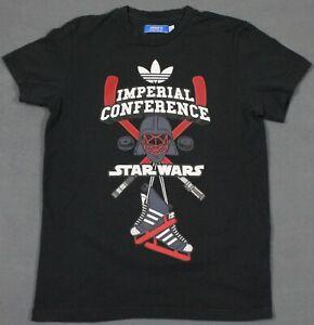 Armonía Adolescente Aditivo  Adidas Star Wars Imperial conferencia Hockey Camiseta Negro Mediano | eBay