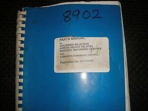 cincinnati milacron arrow 500 750 ere vmc parts manual ebay rh ebay com cincinnati milacron bds4 manual cincinnati milacron user manual