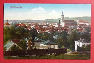 AK-BISCHOFSWERDA-um-1914-Stadtansicht-mit-Kleinbahn-Haengern-30508
