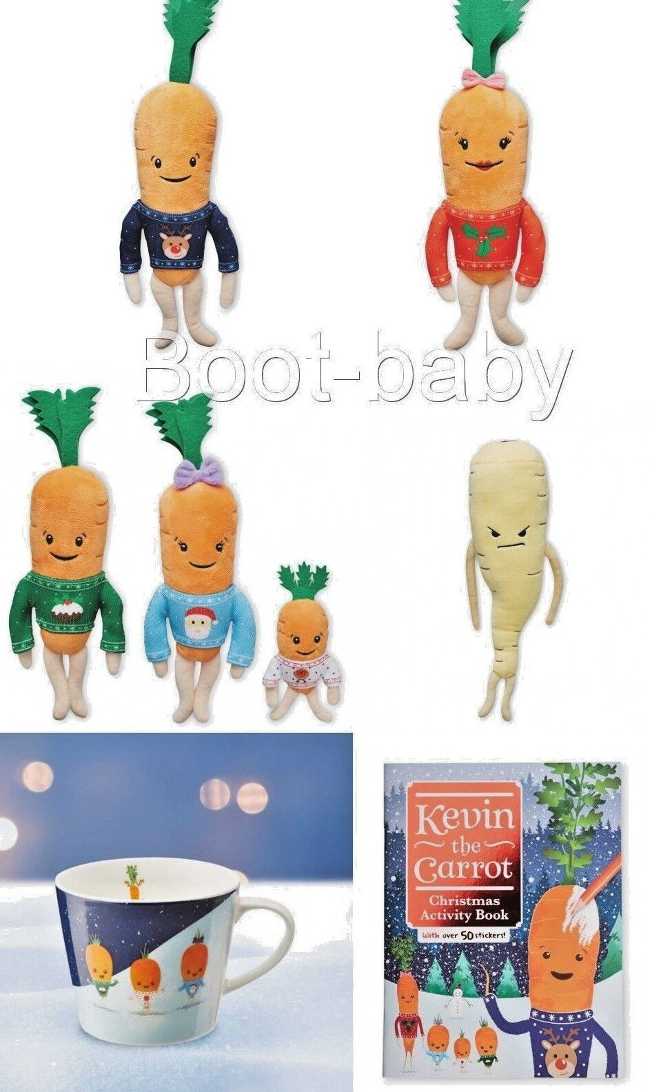 Aldi 2018 Kevin The Carred And Family Including Pascal The Parsnip Full Set BNWT