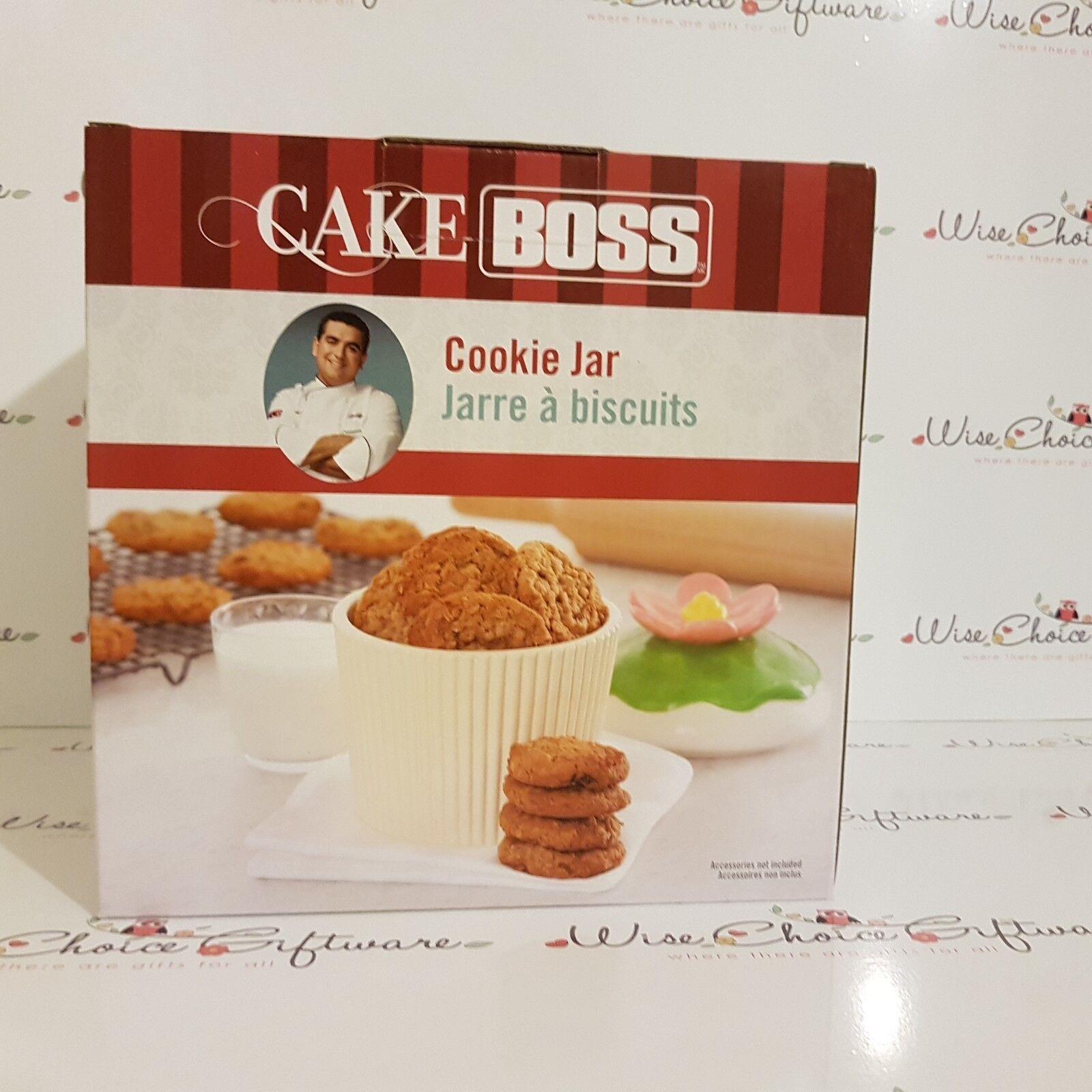 Cake Boss Ceramic Cupcake Cookie Jar FREE P&P