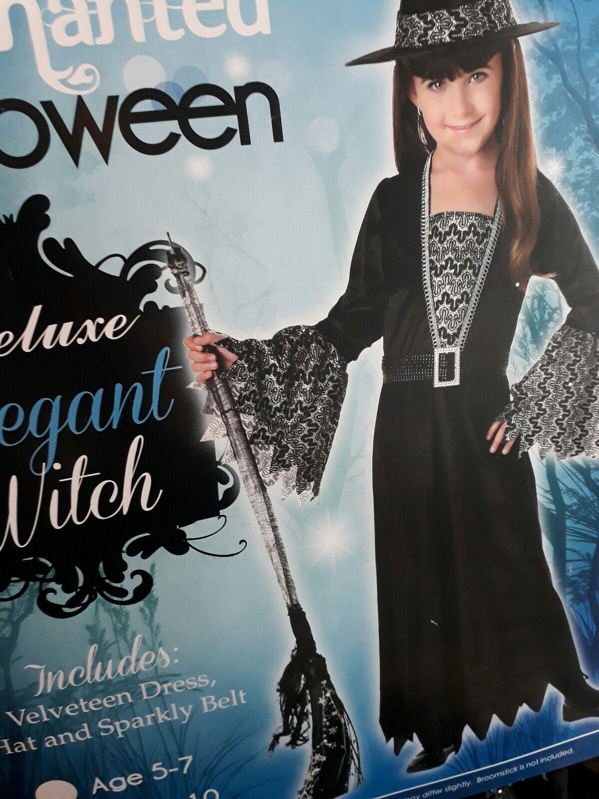 girls elegant witch halloween costume