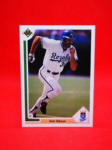 Upper Deck 1991 carte card baseball US NM+/M Kansas City Royals #737 KIRK GIBSON
