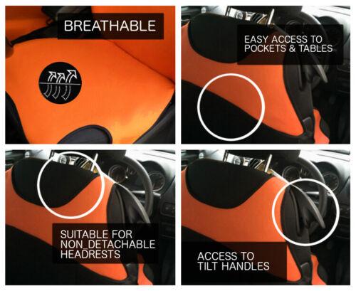INC. STEPWAY 2 Orange Seat Covers For Dacia Duster Logan Sandero