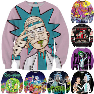 4eee3a5910c9e Women Men Cartoon 3D Anime Print Casual Sweatshirt Pullover Hoodies ...