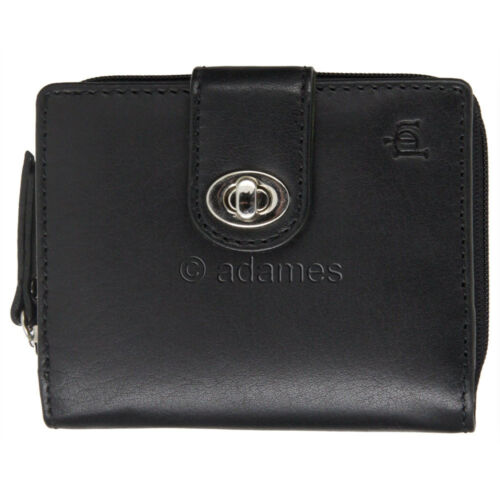 Oiled Leather Wallet with Zipped Coin Section Leather Purse Black or Brown