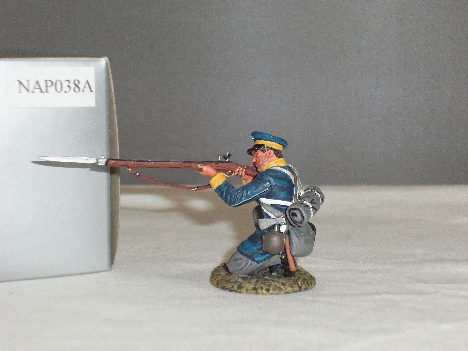 THOMAS GUNN NAP038A PRUSSIAN WESTPHALIAN GUARD KNEELING FIRING METAL TOY SOLDIER