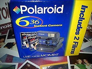 MACCHINA-fotografica-Polaroid-Nuovo-Con-Scatola-Originale-80s-RARA-iconico-Fascia-Blu-Film-1-Guida
